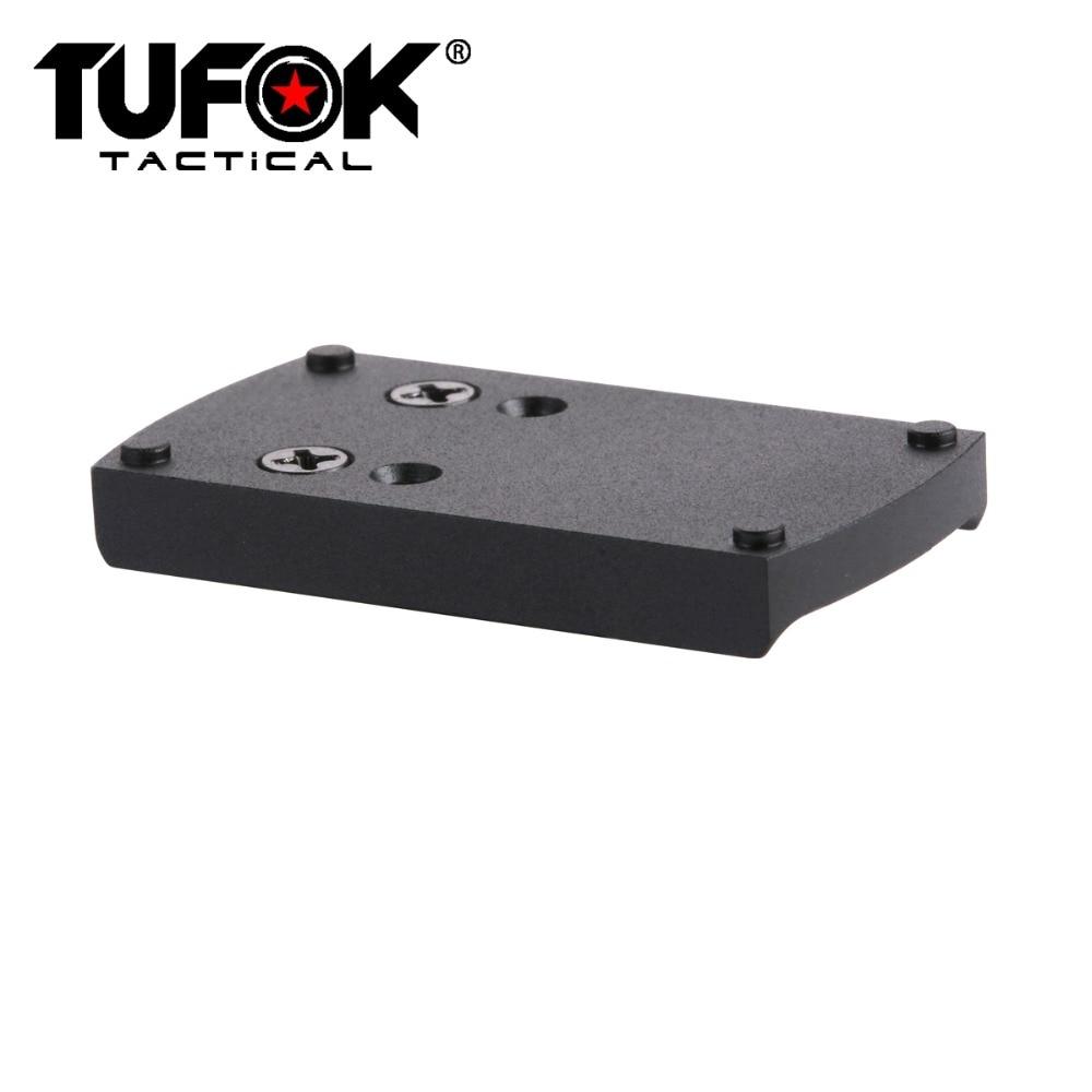 TuFok Glock Pistol Sight Mount G17 G19 G22 G23 G26 Mount Plate Adapter Viper/Sightmark/Burris/Vortex Red Dot Scope Mount Base