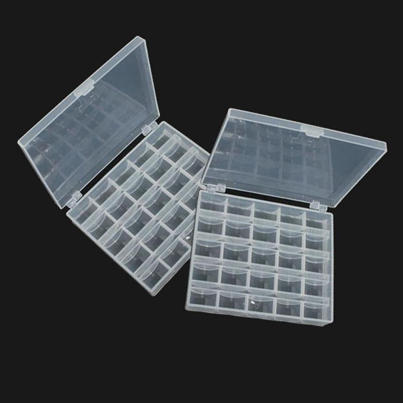 2Pcs Translucent Empty Storage Box Cases Nail Art Rhinestones Decorations Jewelry Beads Earrings Organizer Box