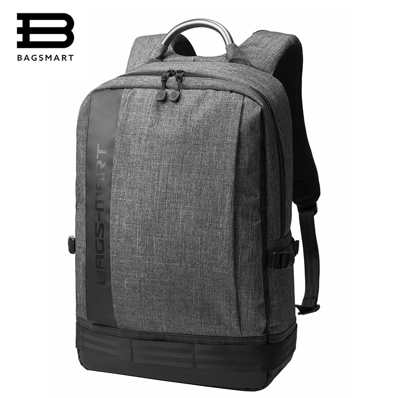 BAGSMART Men 14 Inch 15 Inch Laptop Notebook Computer Bags Bolsa Mochila for Men School Backpack bagsmart new men laptop backpack bolsa mochila for 15 6 inch notebook computer rucksack school bag travel backpack for teenagers