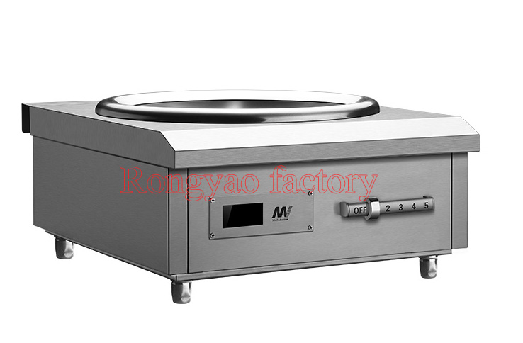 8KW Stainless Steel High Power Concave Commercial Induction Cooker Electromagnetic Stove Industrial Electric Frying Furnace In Cookers From Home