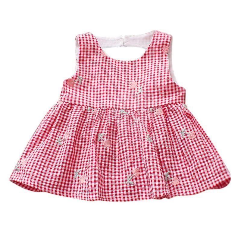 91d5b01b0a04 Gilet per bebè a quadretti per bambina Abiti senza maniche a fiori con  scollo a V o fiori ricamati a fiori. Descrizione  Colore  rosso