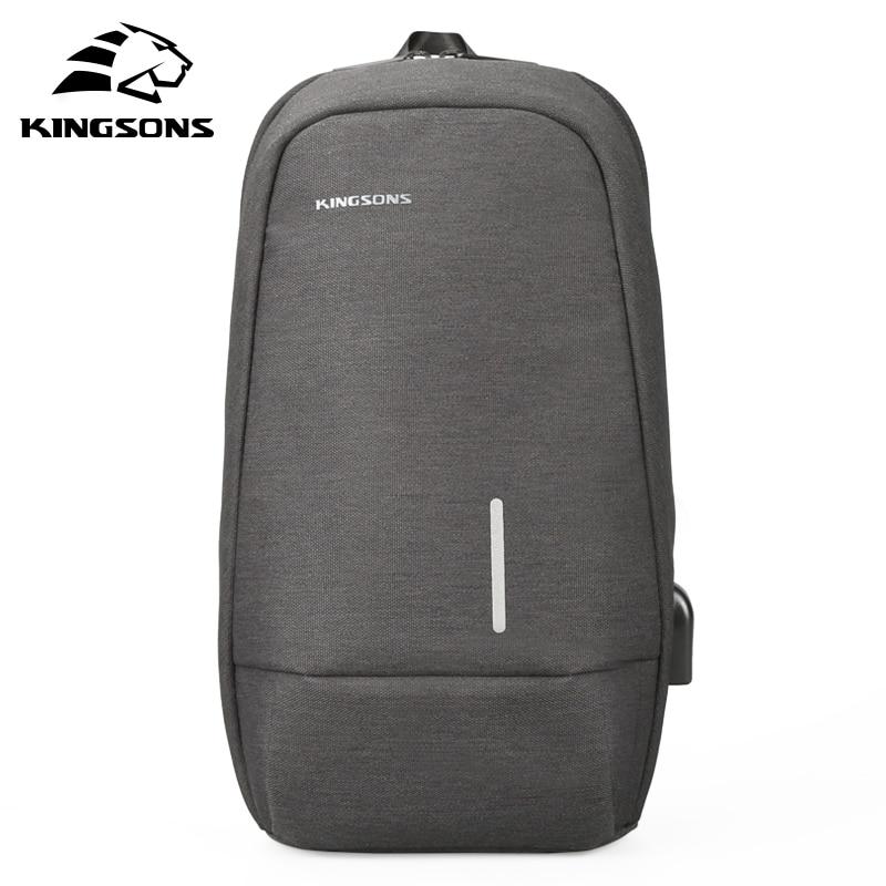 Kingsons Male Chest Bag Men's Crossbody Bags Small Single Shoulder Back Pack For Teenager Casual Travel Bag