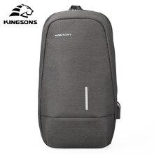 Kingsons mâle sac à bandoulière sacs à bandoulière petit sac à dos à bandoulière unique pour adolescent sac de voyage décontracté