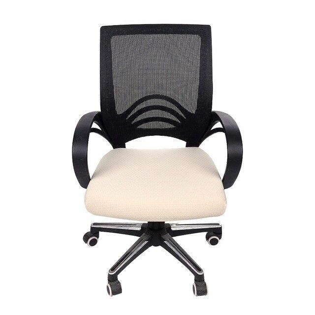 Обеденный/компьютерный чехол для стула, Одноцветный Современный домашний декор, эластичные чехлы из спандекса, короткий Чехол для стула для офиса