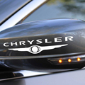 Set Of 2 Vinyl Stickers Logo Chrysler Decal Black White Gray