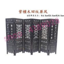 Фиолетовая дрожащая древесина, Массивный деревянный маленький экран, украшения для столешницы
