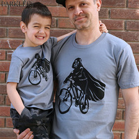 Family Mother Father Daughter Son T Shirt 2017 Fashion Short Sleeve T Shirt Men Casual Superman