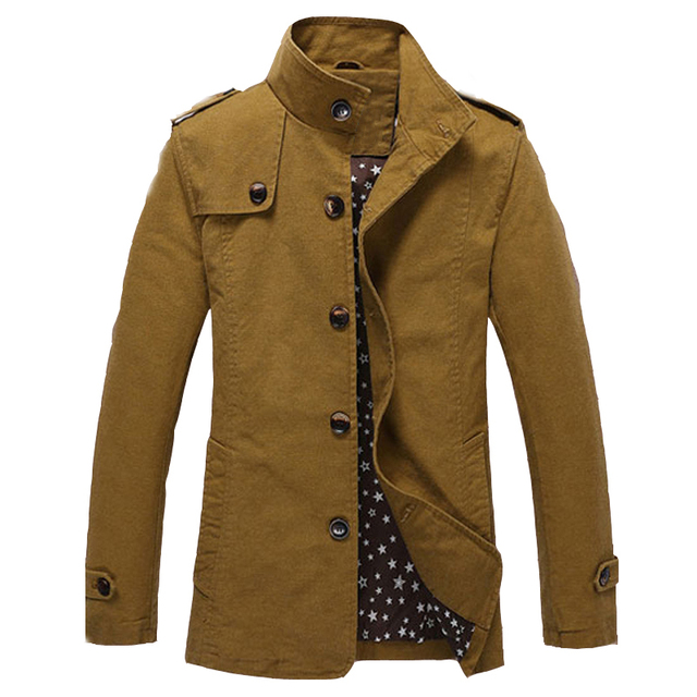 England Style Vintage Winter Mens Trench Coats Fashion Slim Fit Cargo Military Coat For Male Overcoat 4XL Brand Designer S2309