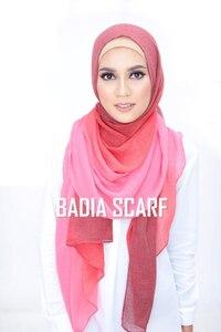 Image 3 - Een Stuk Vrouwen Ombre Hijab Sjaal Mode Moslim Hijaabs Viscose Katoen Islam Hoofd Wraps Vrouwen Foulard Maxi Sjaal Sjaals