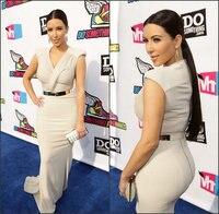 Fahion V neck Cap Sleeve Kim Kardashian Floor Length Ruffled Slim Celebrity Prom Gowns mother of the bride dresses