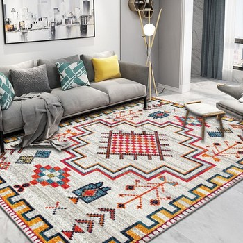 Morocco Carpet Living Room Nordic Bedroom Carpet Home Decor Sofa Rug Coffee Table Floor Mat Study Room Vintage Persian Rugs persian totem printed home decor antiskid rug