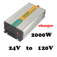 2000W 24 to 120v 2000watt power inverter for home application 2kva inverter dc to ac 24v 120v mini inverter with charger