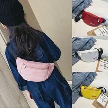 купить Women Fashion Waist Fanny Pack PU Leather Belt Zipper Waist Bag Casual Chest Outdoor Sports Pouch Chest Crossbody Travel Bag дешево