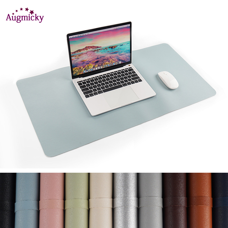 900*450mm Large Gaming Mousepad Locking Edge PU Leather Front Back Double Use Mouse Mat Office Desktop Laptop Big Mouse Mat mouse