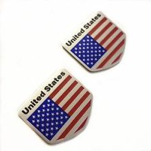 Custom American Flag Military Badge Electroplated Zinc Alloy