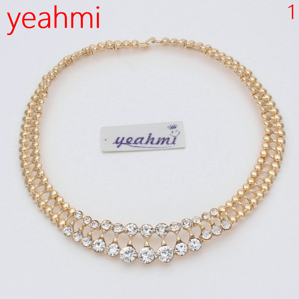 2018 New Fashion Imitation Pearl Dubai Gold-color Jewelry set African Beads Costume Acessories Bridal wedding Jewelry Sets J143