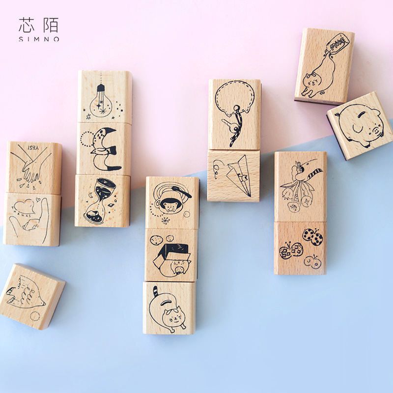 Vintage Daily Life Starry Sky Decoration Stamp Wooden Rubber Stamps For Scrapbooking Stationery DIY Craft Standard Stamp