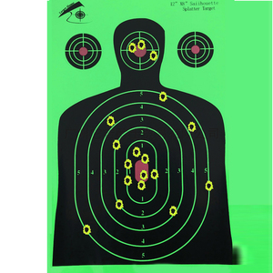 """Image 4 - 25 шт. стрельбы по мишени 12 """"x 18"""" силуэт Splatter Reactiveb бумага для мишени флуоресцентный зеленый для стрельбы из оружия или стрельбы из лука"""