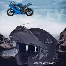 Мужская мотоциклетный шлем двойной линзы флип анфас moto шлем защитный шлем анти ультрафиолетового шлем мотокросс motorhelm