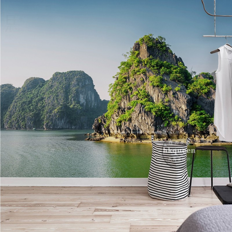 3D photo wallpaper Nature Fresh Beautiful Landscape Background Wall 3D stereo living room lobby wallpaper custom bathroom mural 2015 real free shipping custom large mural of european 3d stereo wood bump texture bar coffee hall leisure background wallpaper