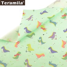 Teramila 100% Cotton Fabric Cute Dinosaur Design Tissu Child Cloth DIY Patchwork Pillow Quilting Sewing Home Textile Bed Sheet(China)