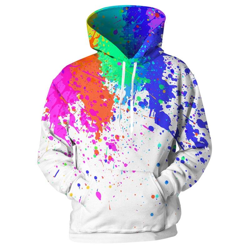 Splashing Rainbow Trout Fishing Mens Black Pullover Hoodie Sweater Black
