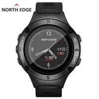 Для Мужчин's gps спортивные часы винтажные водостойкие Военная Униформа сердечного ритма альтиметр барометр компасы часов бег NORTH EDGE