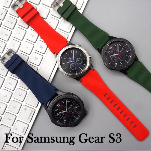 HOKE For Samsung Gear S3 Classic Frontier Sports Silicone Bracelet Watch Strap Band 22mm Watchbands Soft TPU Watch Bracelet