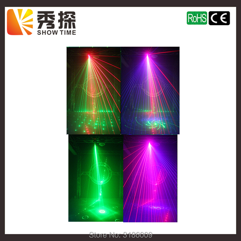 Showtime Newest Stage Laser Light RGB Full Color Six Eye Beam Laser Club DJ Disco Laser Light Projector DMX512 Scan laser lights