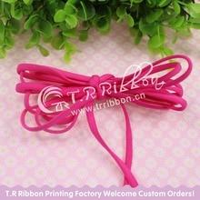 New Nylon Ribbon!  5mm Tiny Elastic Nylon Thread 100 yards/roll  #92107 shocking pink