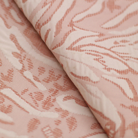High grade brocade satin plant embossed floral jacquard clothing fabric coat fabric skirt cheongsam fashion cloth 4 colors