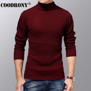Image 4 - COODRONY Turtleneck Sweater Men Winter Thick Warm Wool Sweaters Christmas Knitted Cashmere Pullover Men Slim Fit Jersey Man 6703