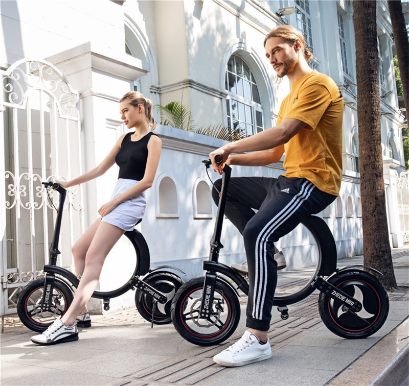 Daibot Mini Electric Bicycle Two Wheel Electric Bicycle 14 Inch 450W 36V 32KMH Foldable Portable Adults Electric Bicycle Bike   (26)
