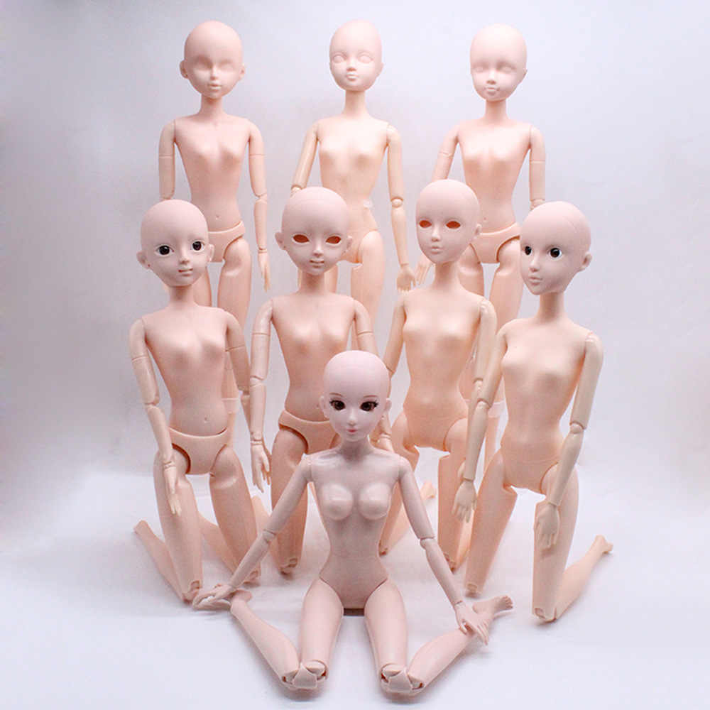 1pcs 7kinds girls Practice Changing makeup dolls head Fit for 28cm 12inch 1:6dolls Doll accessories  girls BJD dolls