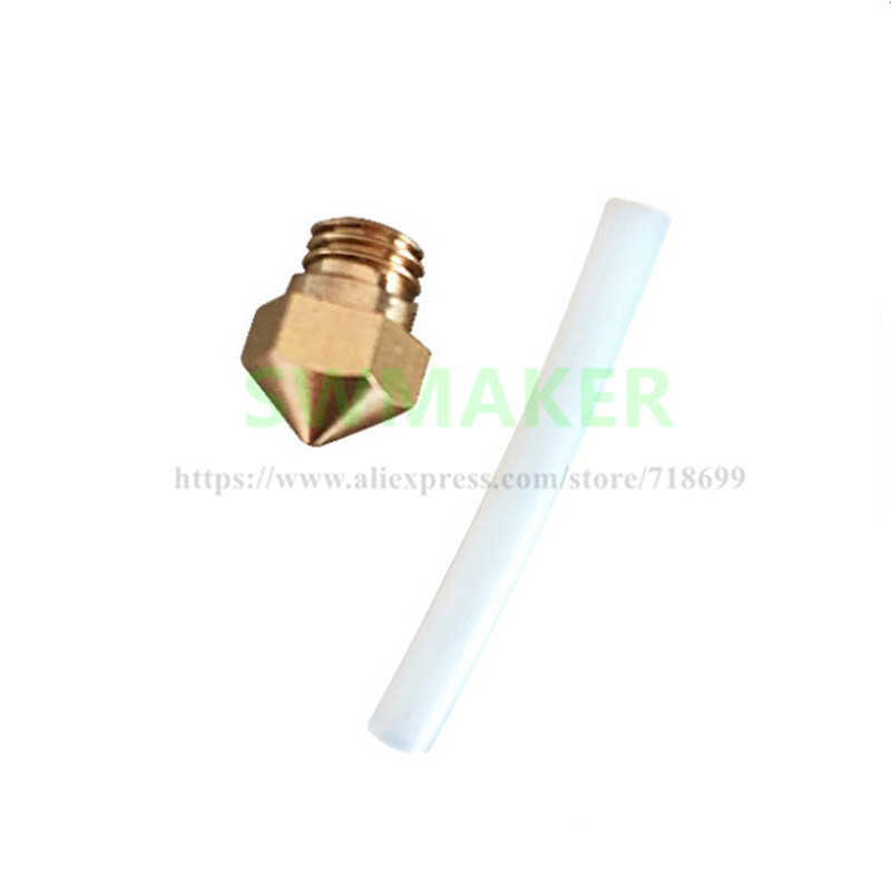 Replacement MK10 Nozzle Size 0.4mm 1.75mm With PTFE Tube For Wanhao/Flashforge 3D Printer Spare Parts