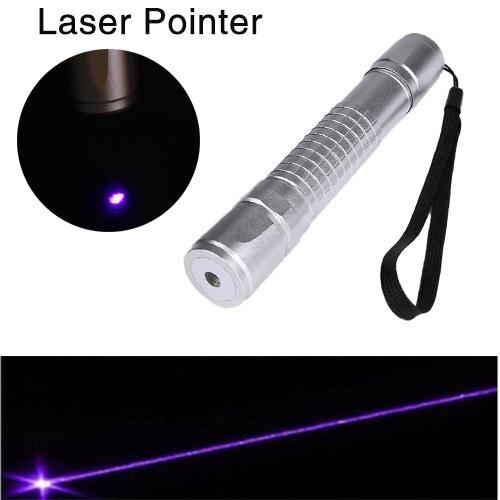 Aluminum High Power Blue Purple Violet Laser Pointer Light Visible Beam Pen