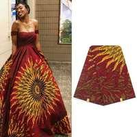 Hitarget wax fabric luxurious design 100% cotton Nigerian veritable wax soft new wax beautiful fashion design 6yards/lot