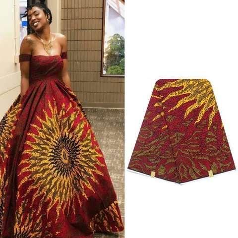 Tecido de Cera Design de Moda Hitarget Design Luxuoso Algodão Nigeriano Verdadeira Cera Macia Nova Bonito 6 Jardas – Lote 100%