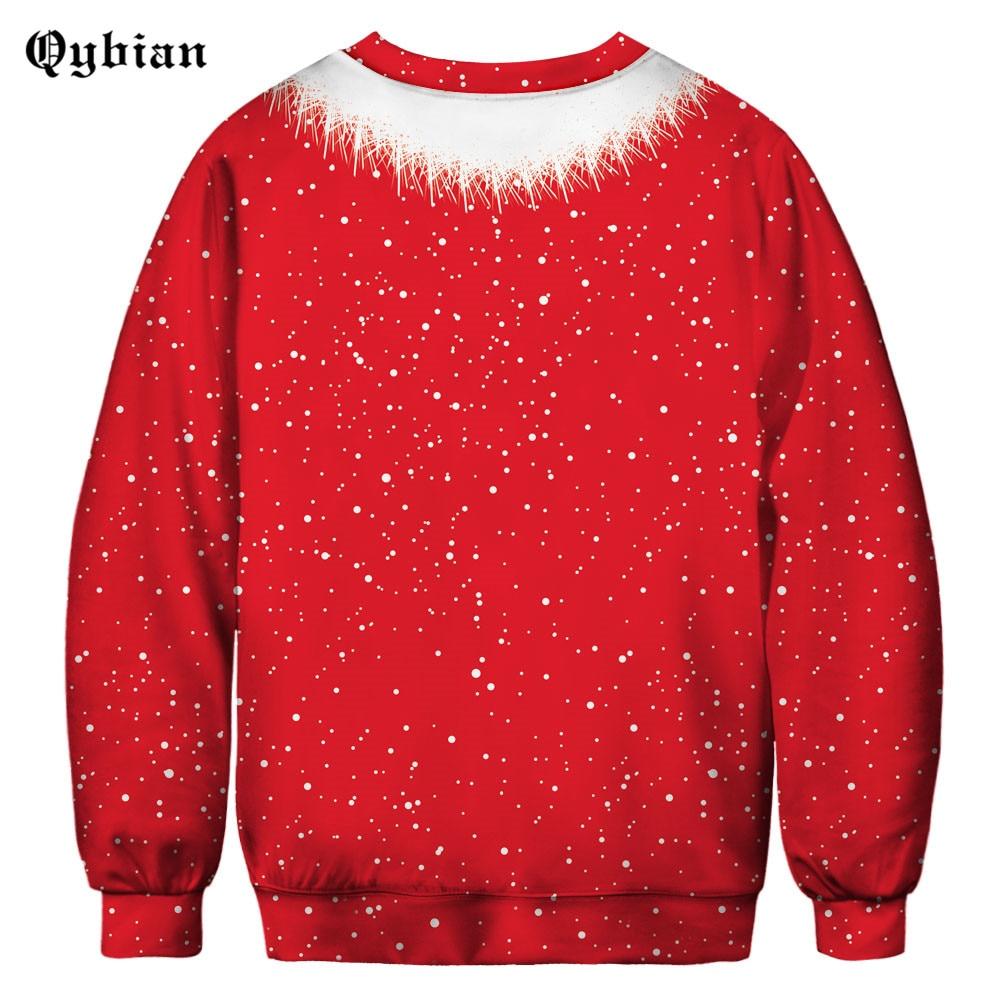 Qybian Macho Muscle Christmas Costume Sweatshirt Men Hoodie