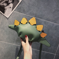 DUSUN Creative Chameleon Cartoon Handbags Flap 3D Funny Dinosaur Animal Messenger Bag Panelled Shoulder Crossbody Bags Girl Gift 3