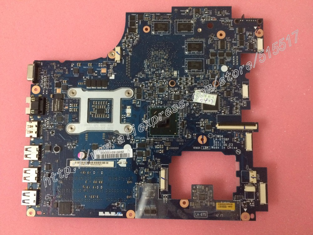 ФОТО Brand New For lenovo Y770 G770 Laptop Motherboard PIWG4 LA-6758P REV:1A Main board