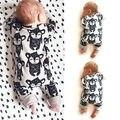 Nova primavera outono Macacão de Bebê de Lã criança Macaco Flor Newborn Boy Girl Romper Macacão Roupas Ropa Bebes t camisa queda