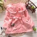 Kids Girls Princess Jacket Children Cotton Clothes Windbreaker Child Solid Flower Coat Outwear KT083B