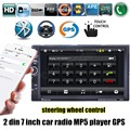 7 ''дюймовый 2 дин Bluetooth Автомобильный GPS naviagation Стерео Радио FM MP5 MP4 USB управление рулевого колеса 8 Г карта доступны