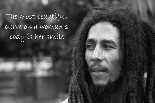 DIY frame Bob Marley The most beautiful curve on a woman\'s body is ...