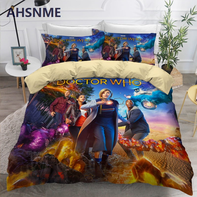 AHSNME Doctor Who Bedding Set Soft Sanding Polyester Duvet Cover Sets Foreign Size King Queen Single Bedlinen