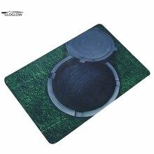 Diseño de la venta caliente estera 3d trampa impreso carpet para salón cocina baño dormitorio alfombra carpet floor mats 5 patrones