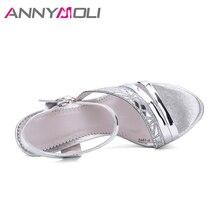 Summer Open Toe Ladies Silver Sandals