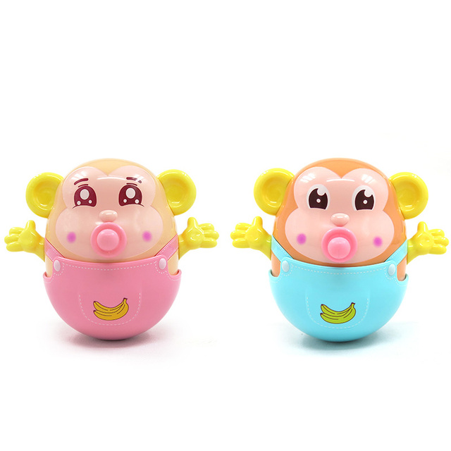 Baby Rattles Nodding Tumbler Doll Baby Toys bed Bell Music Training Teether Toys And Learning Education  Bathing toy  for kids