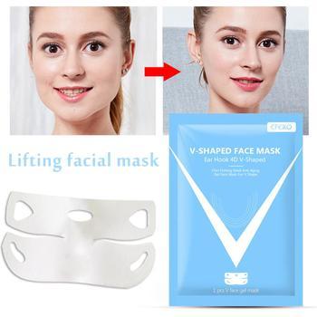 4D maska podnoszenia V linia Lifting twarzy podwójny podbródek reduktor intensywne podnoszenia warstwę maski ujędrniający i nawilżająca maska tanie i dobre opinie Hand made Face Lift Mask As the detail show 110 v (不含)-220 v (不含) Brak elektryczne pudaier 4D Lifting Mask Face Lifting Slimming